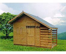 MI-Saba Ferienholzhaus Saba mit Holzschuppen