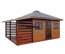 MI-N4 Holz Gerätehaus