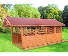 MI-S6 Holz Überdachung Garage