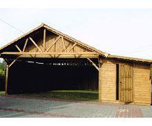 MI-S2S Garage Überdachung  mit Schiebetor