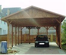 MI-S1 Holz Überdachung Garage