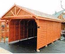 MI-S2 Holz Überdachung Garage