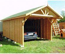 MI-S3 Holz Überdachung Garage