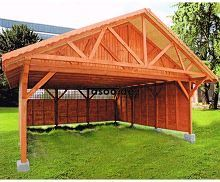 MI-S4 Holz Überdachung Garage