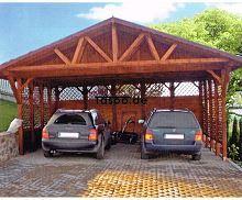 MI-S5 Holz Überdachung Garage